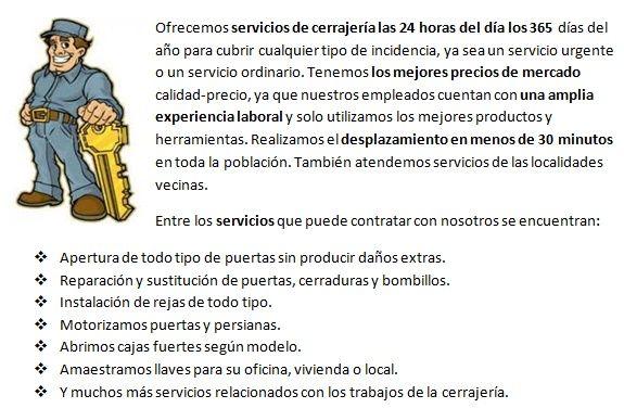 Somos cerrajeros Las Torres de Cotillas 24 horas urgentes